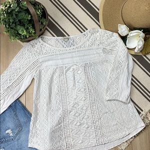Lucky Brand knit long sleeve blouse